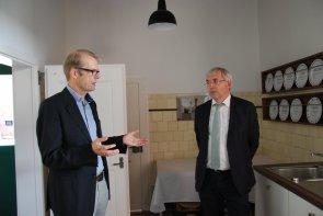 Staatssekretär Klaus Kaiser besucht das Humberghaus